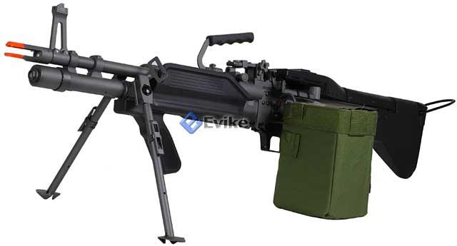 A&K Full Metal Mk43 Mod 0 / M60E4 Navy Airsoft Medium Machine Gun AEG