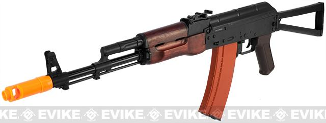 Bone Yard - APS Full Metal AK74 Electric Blowback Airsoft AEG Rifle w/ Real Wood Furniture (Store Display, Non-Working Or Refurbished Models)