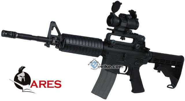z ARES Full Metal M4A1 Carbine Airsoft AEG Rifle - Black