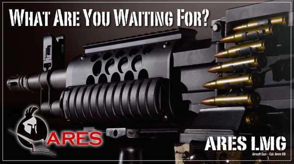 z ARES Full Metal Stoner LMG AMG Airsoft AEG Machine Gun SAW