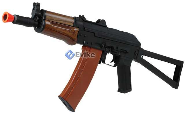 z Softair Licensed Kalashnikov Full Metal AKS74U Airsoft AEG with Real Wood Furniture