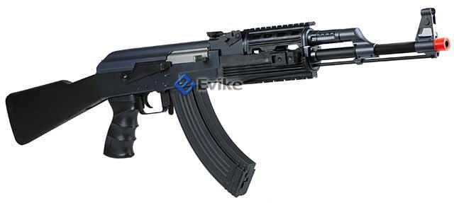 New Version Echo1 AK47 RIS Full Size Airsoft AEG Rifle (Black)