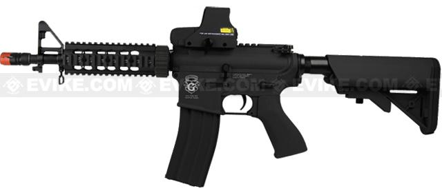 Evike Custom Class I G&G Blowback M4 CQBR Combat Machine Airsoft AEG - Black (Package: Gun Only)