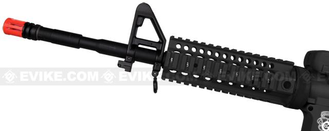z Evike Custom G&G Blowback Full Length Carbine Combat Machine Airsoft AEG with CRANE Stock (Type B RIS / Black)
