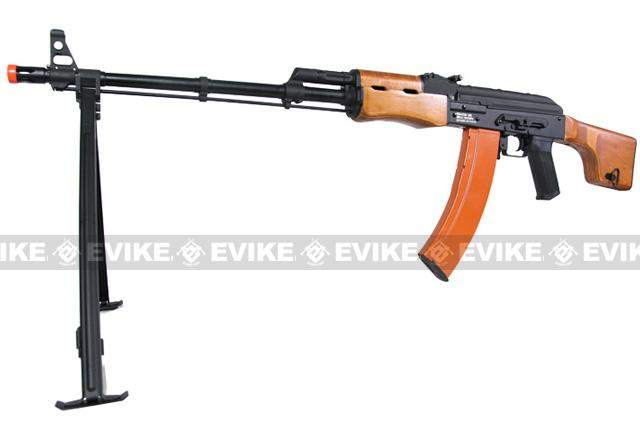 CYMA CM052 Full Metal AK47 RPK LMG Airsoft AEG w/ Bipod - Real Wood (Package: Gun Only)