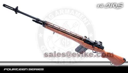 G&G M14 Full Size Airsoft AEG Rifle - Imitation Wood (Package: Rifle)