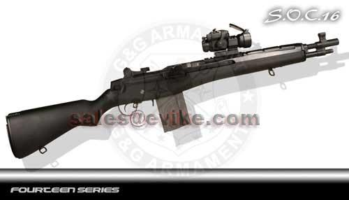 z Bone Yard - G&G M14 SOC16 Full Size Airsoft AEG Rifle (Store Display, Non-Working Or Refurbished Models)