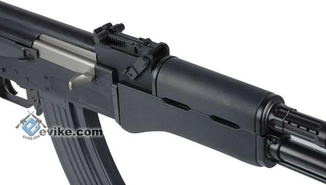 G&G Combat Machine Full Size AK47 RK47 Airsoft AEG Rifle w/ Imitation Wood - (Package: Gun Only)