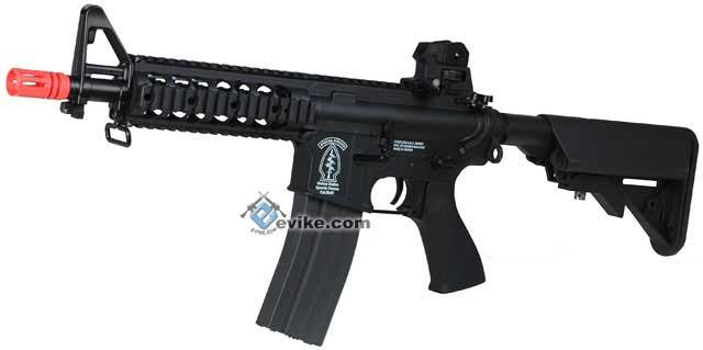 G&G GR15 Raider CQB-R Electric Blow Back Airsoft AEG Rifle - Black (Package: Add 9.6 Butterfly Battery + Smart Charger)