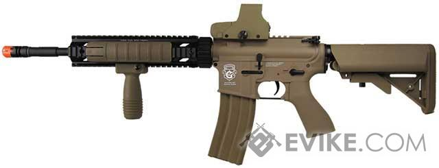 G&G Limited Edition Blowback M4 Full Length Carbine 10 FF RAS Combat Machine Airsoft AEG (Tan)