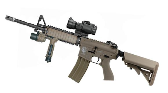 Evike Custom G&G Limited Edition Standard Full Length Carbine RASII Combat Machine Airsoft AEG - Tan (Package: Gun Only)