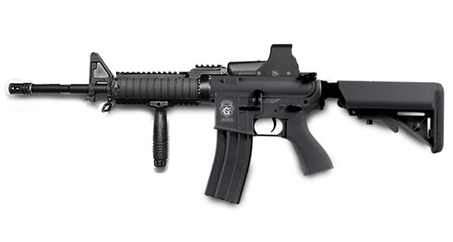 Evike Custom G&G Limited Edition Full Length Carbine RASII Combat Machine Airsoft AEG - Black (Package: Gun Only)