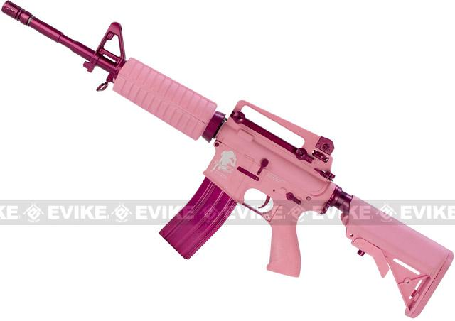 G&G M4 Carbine Femme Fatale Special Edition M4 Combat Machine Airsoft AEG Rifle (Pink)