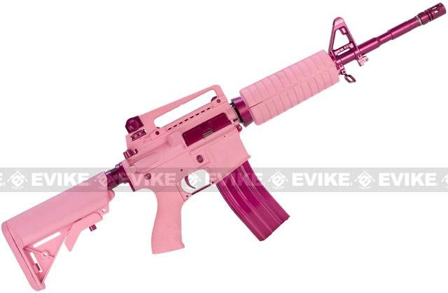 Pre-Order ETA September 2016 G&G M4 Carbine Femme Fatale Special Edition M4 Combat Machine Airsoft AEG Rifle - Pink (Package: Gun Only)
