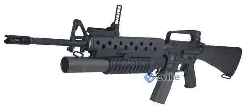 Matrix Limited Edition Airsoft M203 Style Grenade Launcher w/ G&P M16 Handguard & Mounts.