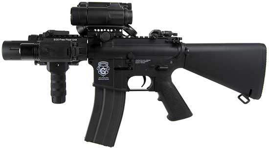 z G&G Limited Edition Blowback Fighting Kitty Combat Machine Airsoft AEG Rifle - Black (Package: Gun Only)