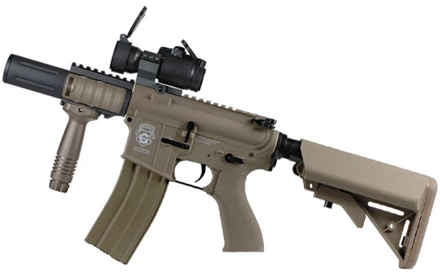 G&G Limited Edition Blowback Fighting Cat Combat Machine Airsoft AEG Rifle (Tan)