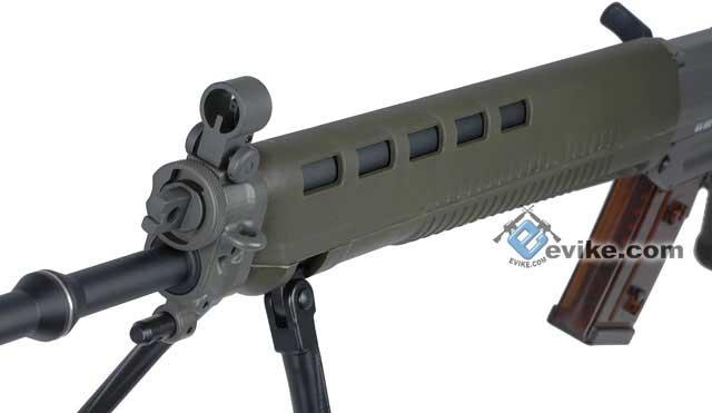 Pre-Order ETA September 2016 G&G Top Tech Swiss Arms Licensed GS550 Airsoft AEG Rifle with Side Folding Stock - OD Green (Package: Gun Only)