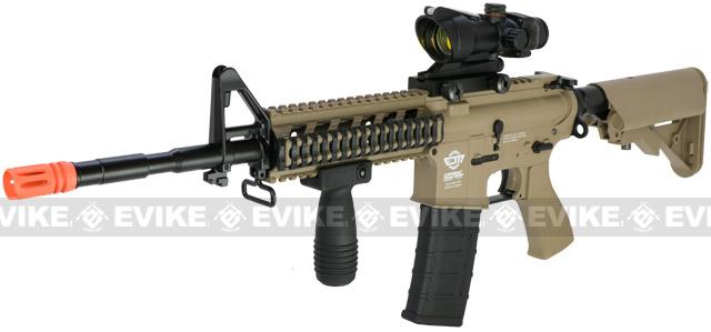 G&G Combat Machine 16 Raider Airsoft AEG Rifle (Package: Tan / Add 9.6 Butterfly Battery + Smart Charger)