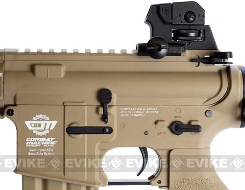 G&G Combat Machine 16 Raider Airsoft AEG Rifle - Tan (Package: Add 9.6 Butterfly Battery + Smart Charger)