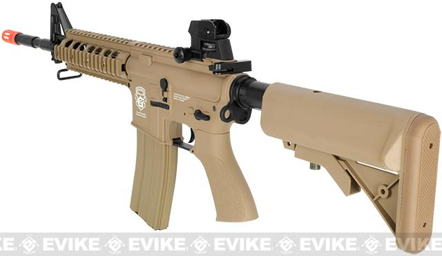 G&G GR15 Raider Full Size Carbine Electric Blow Back Airsoft AEG Rifle - Tan (Package: Gun Only)