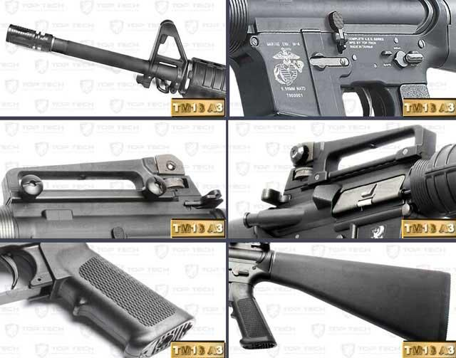 Pre-Order ETA October 2016 G&G Top Tech GR16 Full Metal A3 Blowback Airsoft AEG Rifle - (Package: Add 8.4v 1600mAh Battery + Charger + BBs)