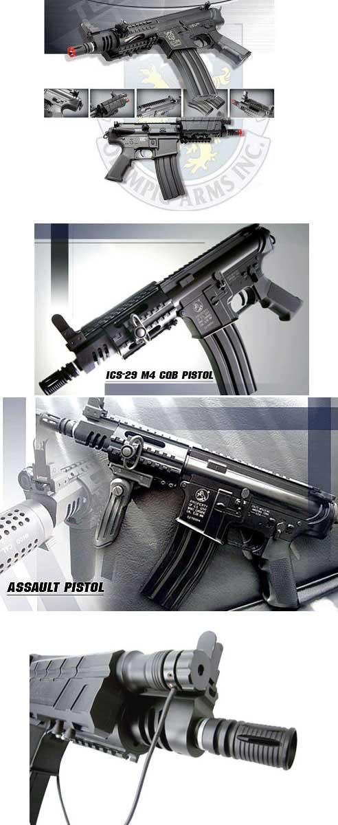 z ICS Full Metal M4 Assault Pistol CQB Airsoft AEG Rifle