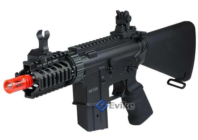 JG Li-poly Ready Stubby CQB M4 Airsoft AEG w/ Reinforced Black Metal Gear Box - (Package: Rifle)