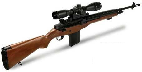 Matrix AGM MP008 M14 Full Size Airsoft AEG Sniper Rifle w/ Scope Mount - Wood