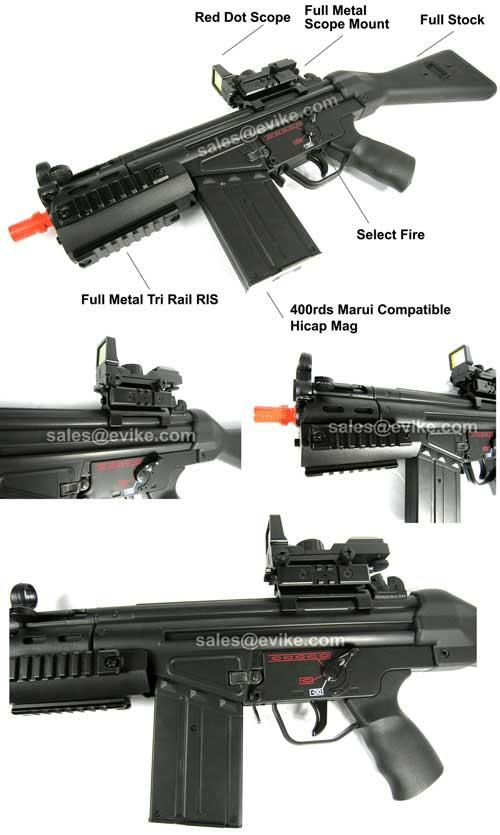z Bone Yard - Full Size R8 Airsoft AEG with Metal Gearbox (Store Display, Non-Working Or Refurbished Models)