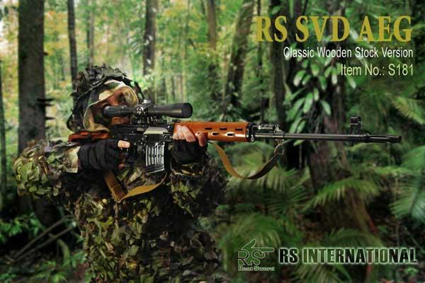 z Real Sword Dragunov SVD Semi-Auto Airsoft Sniper Rifle. (Type 79/85)