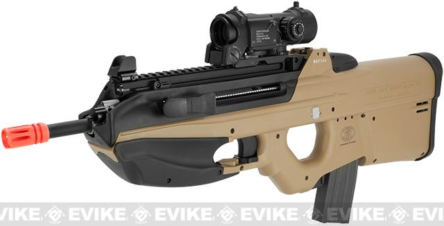 G&G FN Herstal Licensed FN2000 Full Size Airsoft AEG Rifle - Tan (Package: Tan / Add 9.6 Butterfly Battery + Smart Charger)