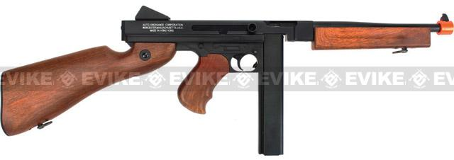 Licensed Thompson M1A1 Airsoft AEG Rifle (Metal Receiver / Gearbox) by King Arms Cybergun