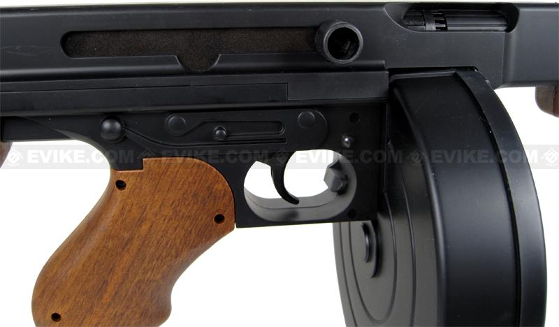 z Licensed Thompson M1A1 Tommy Gun Airsoft AEG Rifle w/ Drum Mag