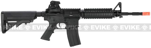 SRC SR-16 M4 RIS Carbine Airsoft AEG Rifle - Black