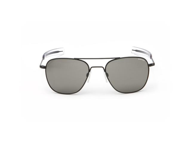 Randolph Aviator 58mm Matte Black Frame Bayonet Gray Polarized Lens