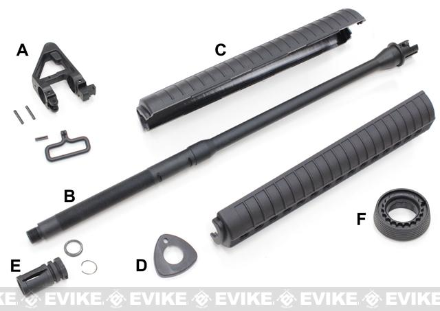 Complete KWA / G&G Front End Assembly for M16 Series Airsoft Electric AEG Rifle