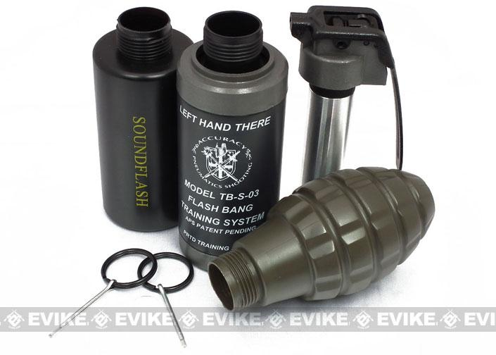 Hakkotsu Thunder B CO2 Sound Effect Airsoft / Paintball Simulation Grenade (3 Shell Set / Random Type)