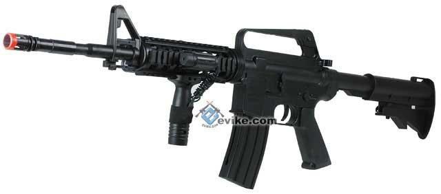 Airsoft Full Size M4 RIS Spring Rifle with Laser and Light