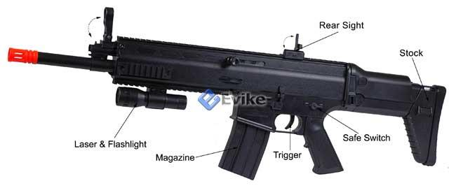 Bone Yard - Full Size MK16 ASC Type Airsoft Rifle (Store Display, Non-Working Or Refurbished Models)
