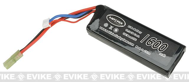 Matrix 11.1V 1600mAh 15C Small Type High Performance Lipo Battery (105mm x 35mm x 17mm)