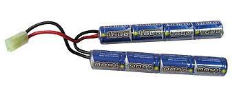 Intellect 9.6V Small Type 1600mAh Airsoft Battery Pack (Butterfly Configuration)