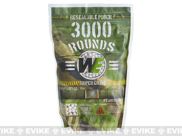WE Precision 0.30g 'Match Grade' BB Value Pack w/ Resealable Pouch (3000 rounds)