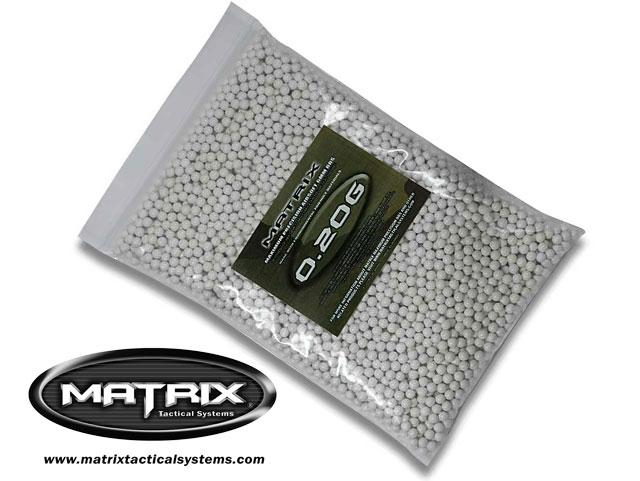 Matrix 0.20g Match Grade 6mm Airsoft BB - 5000/ White