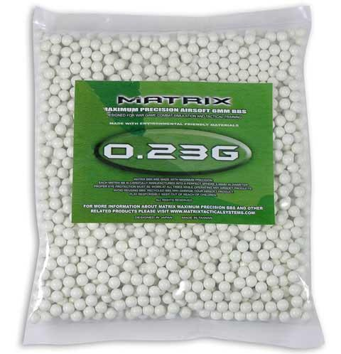 Matrix 0.23g Match Grade 6mm Airsoft BB - 2,000/ White