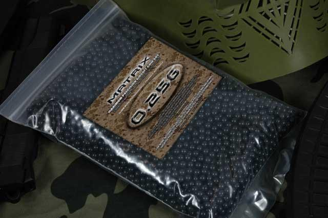 Matrix 0.25g Match Grade 6mm Airsoft BB - 5000/ Black