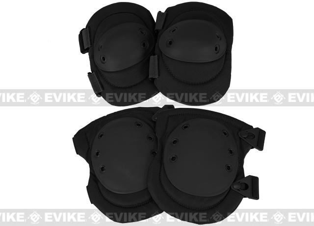 Avengers Special Operation Tactical QD Knee Pad / Elbow Pad Set (Color: Black)