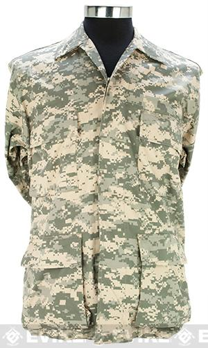 55/45 Cotton Poly Twill BDU Jacket - ACU (Size: Medium)