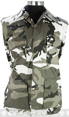 55/45 Cotton Poly Twill BDU Jacket - City Camo (Size: Large)