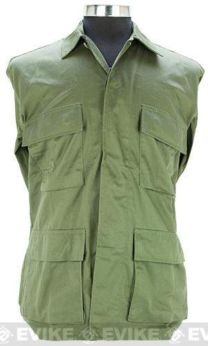 55/45 Cotton Poly Twill BDU Jacket - OD Green (Size: Medium)